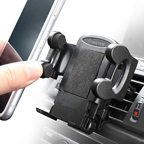 Insten Car Air Vent Cell Phone Holder Mount Compatible with iPhone 11/11 Pro/11 Pro Max/X/XS/XS Max/XR/8/8 Plus/7/7 Plus/6S/Galaxy S10/S10 Plus/S10e/S7 Edge/S7/S8/ S8+ /S9/S9+ & Other Smartphones