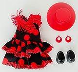 Folk Artesanía Vestido y complementos Regional típico Andaluza o Flamenca con Sombrero muñeca Barriguitas de Famosa. Muñeca no incluida en el Lote.
