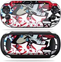 MightySkins Skin Compatible with PS Vita PSVITA Playstation Vita Portable wrap Sticker Skins Graffiti Mash Up