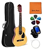 Hohner Guitar HAG250 1/2 Size Guitar Bundle with JULIET MUSIC Gig Bag, Tuner, String, Picks and Polishing Cloth