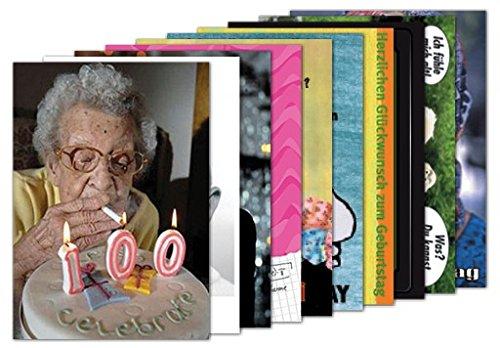 10er-Set: Postkarten A6 +++ MIX SET Nr. 1 von modern times +++ 10 lustige GEBURTSTAGS-Motive +++