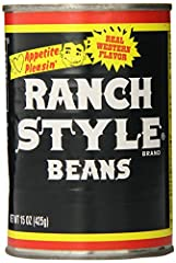 Includes twelve 15-ounce cans of RANCH STYLE Black Label Black Beans Delicious black beans in a unique blend of seasonings for big, bold Southwestern flavor Add black beans to your favorite soups, tacos, nachos and dips for rich, creamy texture Quick...