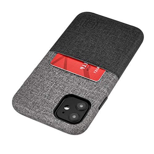 Dockem Luxe M1 Funda Cartera para iPhone 11 (6.1): Funda Tarjetero Slim con Placa de Metal Integrada para Soporte Magnético: Serie M [Negro y Gris]
