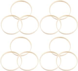 Healifty Atrapasueños anillos atrapasueños aro bambú diy artesanía suministros hechos a mano regalo de navidad accesorios de decoración de boda (30 cm) 12 piezas