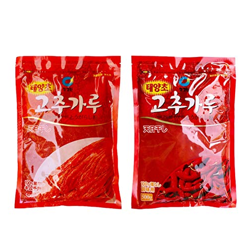 唐辛子粉 セット 1�s【キムチ用 調味用 500g 各1個】 唐辛子 キムチ 調味料 香辛料 業務用 とうがらしパウダー 韓国料理 中国