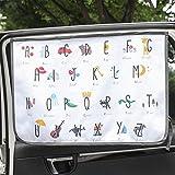 Magnet Sun Shade Cortina de Parasol magnética para Ventana Lateral de Coche Sol Sombra Cortina para bebés y niños – Protector de Parasol (Be-Kids Alphabet)