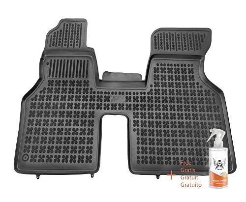 Alfombrillas de Goma Compatible con Transporter T4 - Delanteras (1990-2003) + Limpiador de Plasticos (Regalo)
