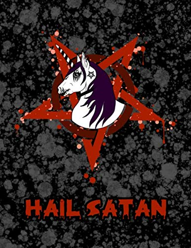 Hail Satan: Metal Corpse Paint Unicorn Weekly Personal Organizer, Motivational Planner and Calendar...