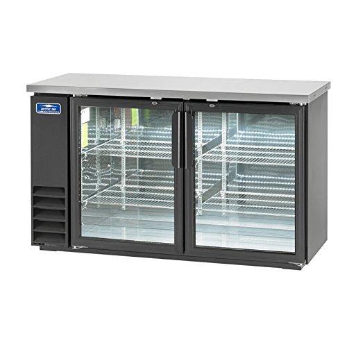 Arctic Air ABB60G Glass 61-Inch 2-Door Back Bar Refrigerator, 115v