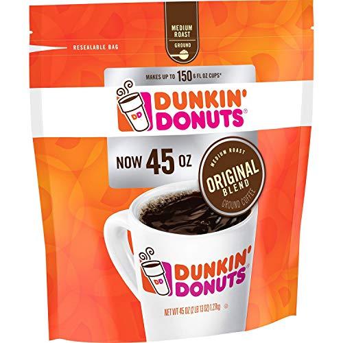 Dunkin Donuts Original Blend Medium Roast Ground Coffee, 40 Ounce (2 packs)