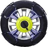 Wangcong Cadenas de Nieve - Cadena Universal Antideslizante para neumáticos Cadenas de Nieve de Coche fáciles de Instalar Tracción de Emergencia para neumáticos de 175-225 mm de Ancho, Juego de