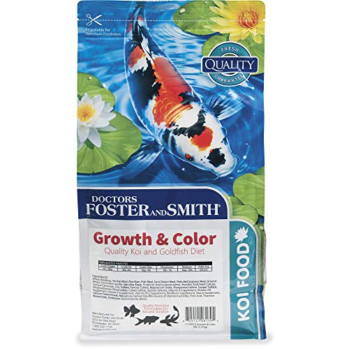 PETCO Brand - DRS. Foster and Smith Growth & Color Quality Koi and Goldfish Food, 5 lbs.
