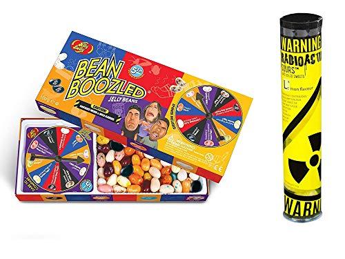 Jelly Belly - Bean Boozled Set Glücksrad (100g) plus Radioactive Sours - Mega-Extrem saure Bonbons Tube (52g) - Geschmacksrichtung Zitrone
