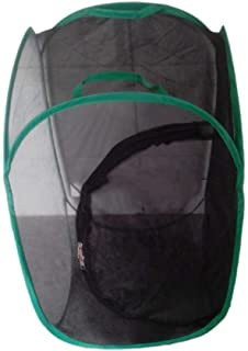 SGerste Praying Mantis Stick Insect Butterfly Cylindrical Pop-up Cage Mesh - Black, 40 x 40x 60cm