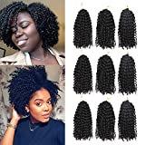 9 Bundles/Lot Marlybob Crochet Hair Crochet Braids Curly Hair 8 Inch Synthetic Afro Kinky Curly Braiding Hair Extensions(24Strands)