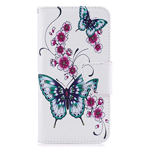 Leather Flip Case Fit for iPhone X, Kickstand Premium Card Holders Wallet Cover for iPhone X