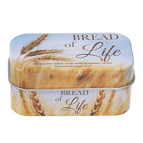 Christian Art Gifts Bible Verse Promise Cards   Bread of Life – 202 Scriptures to Nourish Your Soul   Daily Encouraging Pocket Size Scripture Cards for Men and Women in Decorative Tin (5.99)