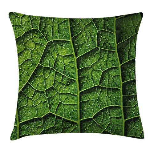 Cushion Cover Brazilian Rain Tropic Exotic Forest Tree Big Huge Leaf Macro Texture Artwork Print Pillow Cover Bar Party Festival Gift Use Pillow Protector 45*45cm