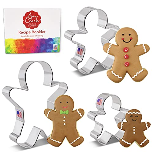 Cookie Cutters 3 Piece Gingerbread Man Cookie Cutter Set