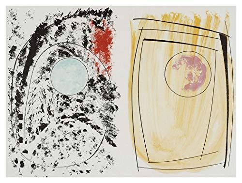 JH Lacrocon Dipinti a Mano Kestor Rock - Gleaming Pietra di Barbara Hepworth - 90X65 cm Riproduzioni Tela Astratta Art Moderno Forma Disegni Linee Poster Arrotolata
