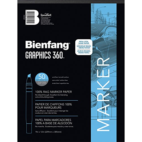 Bienfang Graphics 360 Marker Paper Pad, 9-Inch by 12-Inch, 50 Sheets