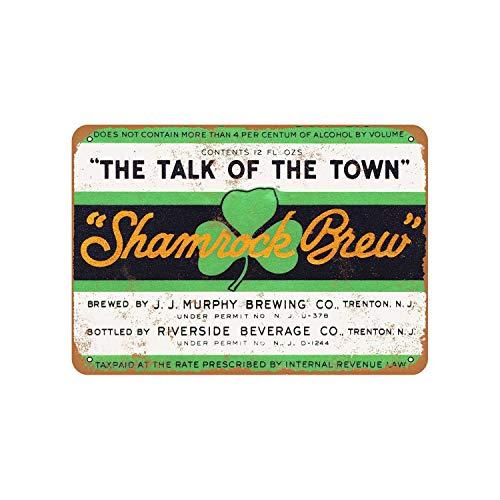 43LenaJon 1933 Murphy Shamrock Brew bier vintage look metalen bord