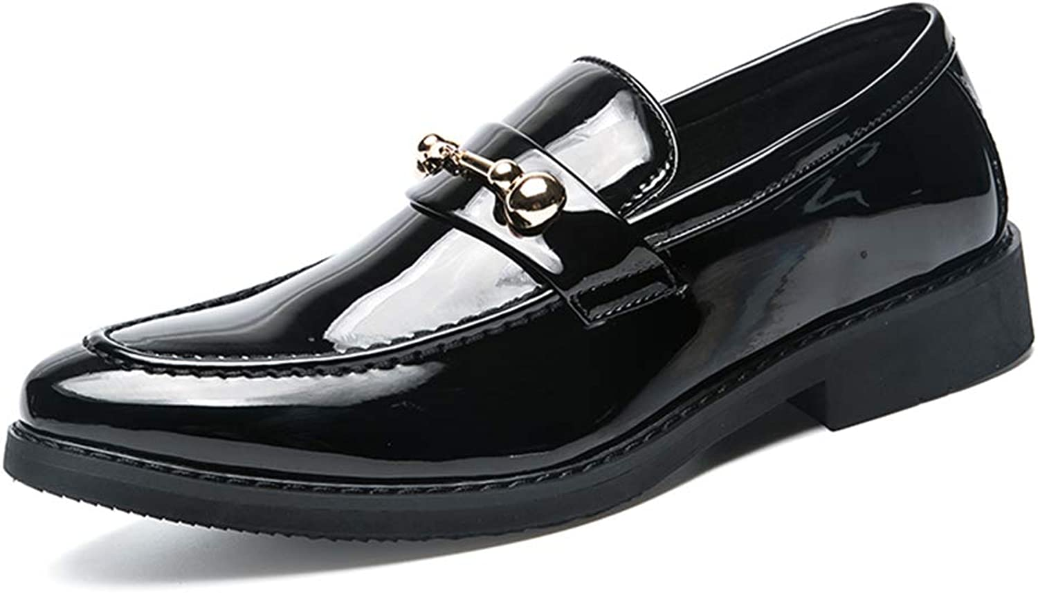 Men's Business Oxford Casual Personality Convenient Patent Leather Slip On Leisure shoes Cricket shoes
