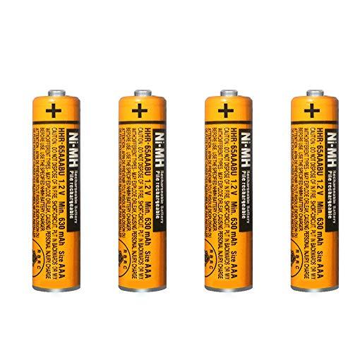 4 x Pilas Recargables AAA 630 mah 1.2v para Panasonic, baterias Recargables...