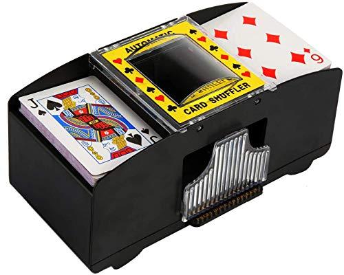 NXACETN Kartenmischmaschine Automatischer Poker-Karten-Shuffler, Spielkarten-Shuffler, Automatischer batteriebetriebener 2-Deck-Spielkarten-Shuffler für Home Party Club Bridge-Pokerspiele
