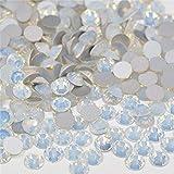 Xuccus JUNAO SS 6 8 10 12 16 20 30 Opal Glass Nail Rhinestone Sticker Flatback Round Nail Crystal Stone Non Hotfix Strass Decoration - (Color: Opal, Size: ss20 1440pcs)
