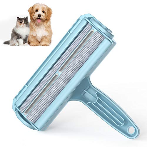 DELOMO Pet Hair Remover Roller – Dog & Cat Fur Remover with Self-Cleaning Base – Efficient Animal Hair Removal Tool…