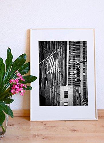 New York Fahne Foto Poster 30 x 40 cm