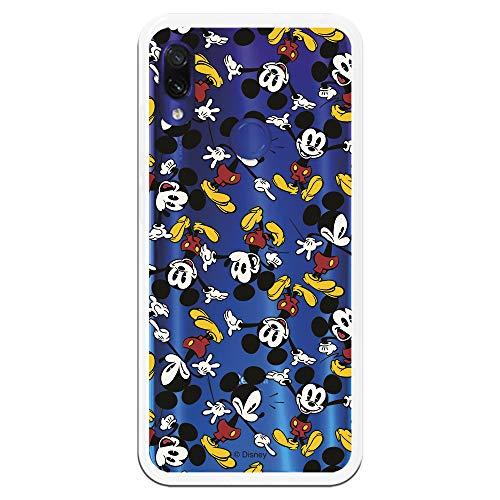 Carcasa Oficial de Disney Mickey Patrón Brazos Clear para Xiaomi Redmi Note 7 - La Casa de Las Carcasas