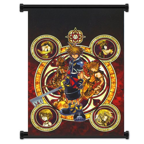 1 X Kingdom Hearts Game Fabric Wall Scroll Poster (16'x23') Inches