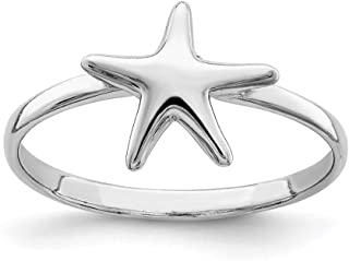 925 Sterling Silver Starfish Band Ring Sea Shell Life Fine Jewelry For Women Gifts For Her