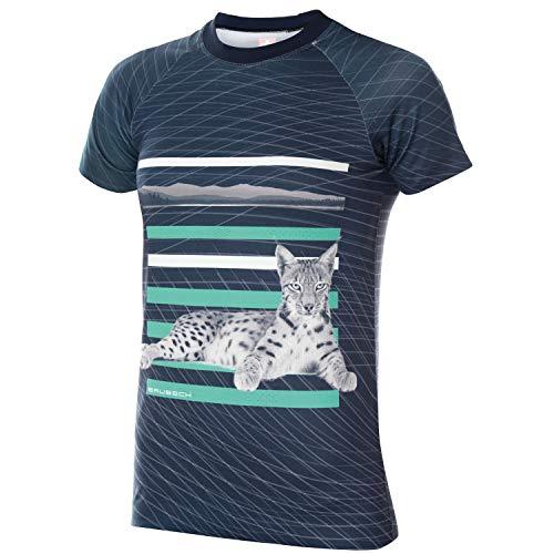 BRUBECK T-shirt fonctionnel pour femme à manches courtes | T-shirt de sport | T-shirt de course | T-shirt d'entraînement | T-shirt respirant sans coutures | T-shirt à manches courtes pour femme | avec imprimé | SS13230A, SS13250A XL bleu