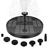 Solar Water Fountain Upgraded 3w Solar Water Pump with 4 Nozzles Solar Fountain Pump for Garden Decor, Bird Bath Pond Pool Fish Tank Patio Garden solar power heater Stable and Longer Working Time…