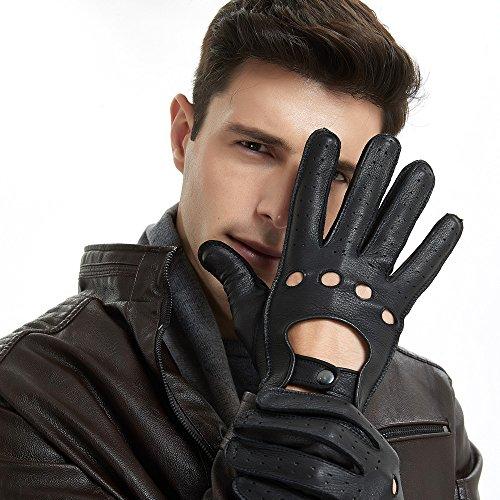 guanti guida ZQ-Collection Guanti di cuoio degli uomini per la guida dell automobile Lusso raffinato