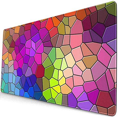 Mozaïek Veelkleurige Textuur Patronen Behang Muis Pad Mousepad Muis Mat Antislip Rubber Duurzaam