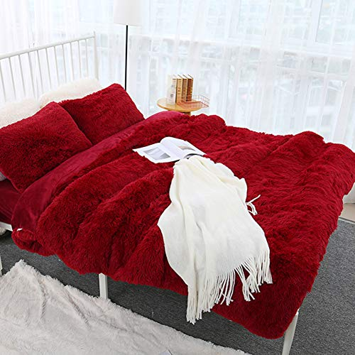 AchidistviQ Decke, 80x120cm Weich Flauschig Zottelig Warmes Bett Sofa Tagesdecke Bettwäsche Bettdecke Decke Rauchgrau