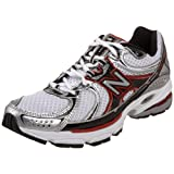 New Balance Men's MR760 Nbx Stability Running Shoe, Silver/Red 8 D US