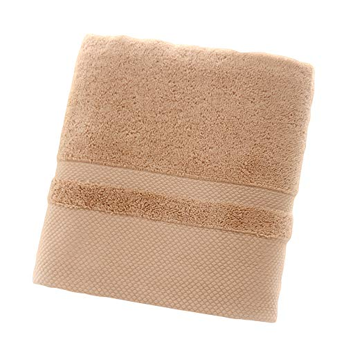 zzJiaCzs Solid Color Towel, Ideal Soft Water Absorbing Shower Bath Beach Sports Towel Blanket, Size:70x140cm Brown