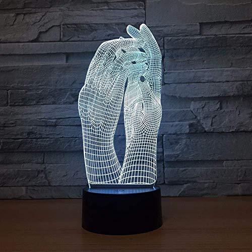 Nachtlampje 3D Amore tweehandige mooie lamp 3D nachtlampje LED USB touch tafellamp decoratie party voor binnen verlichting voor binnen figuur lamp