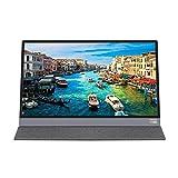 GFHJ1201 Monitor portátil, Monitor Externo de 15.6 Pulgadas 1080 táctiles, Monitor de Juego portátil Monitor de Pantalla móvil con HDMI, Tipo-C (Color : Black)