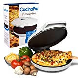 CucinaPro Courant Precision Non-Stick Pizza Maker - Quesadilla & Calzone Maker - Electric Griddle Grill Pan - Machine For Home & Everyday Baker, White