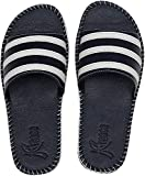 Kraasa Men's Synthetic Leather Designer Casual Ultra Comfort Slippers/Flip - Flops || Color