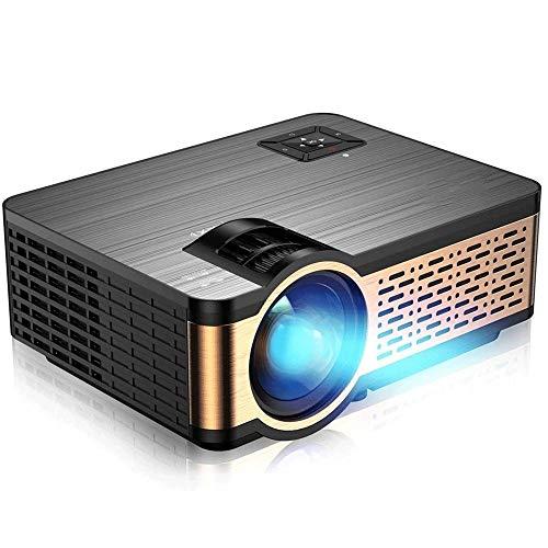 XWX Mini Proyector, Proyector De Películas De Alto Brillo Smartphone Video Portable Proyector Compatible con TV Stick Box Portátil para El Hogar