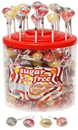 30 x Sugar Free Fruity Lollipops with Vitamin C Simpkins (Apple, Cherry, Orange & Lemon)