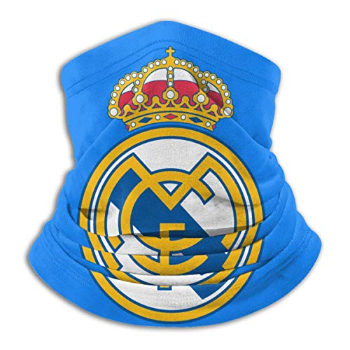 XXWKer Microfibre Chapeaux Tube Masque Visage Tour de Cou Cagoule, Real Madrid Men & Women Cold Weather Neck Gaiter Tube Face