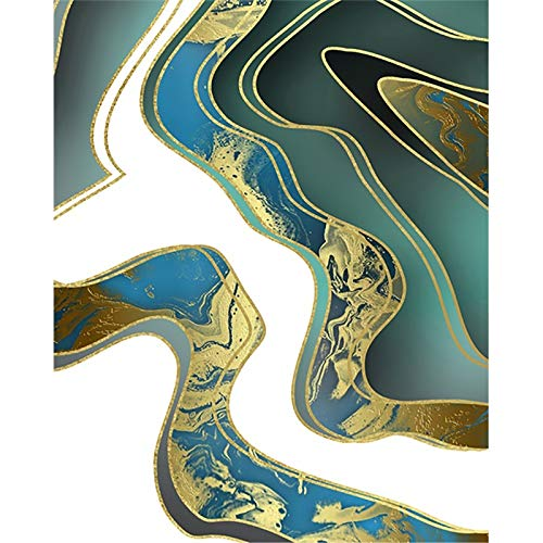 RTCKF Wall Art Abstract Canvas Painting Acuarela Oro Carteles e Impresiones Lienzo Pintura para niños decoración del hogar Escalera de Pared Sala de Estar Mural Decorativo A6 70X100cm